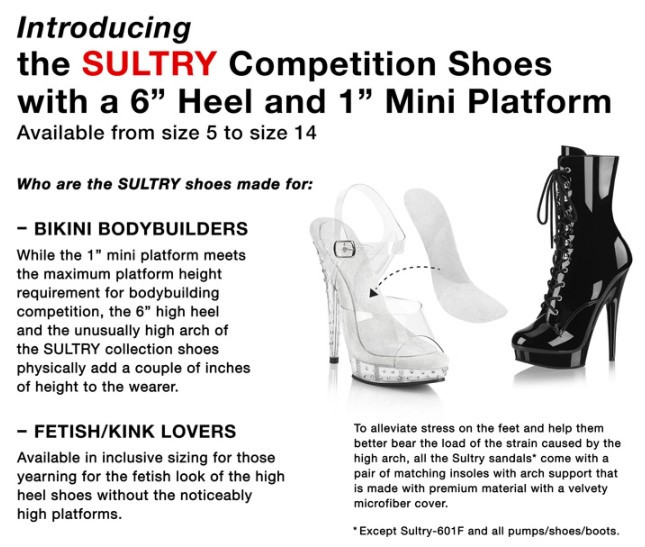 girl body building bikiny competition shoes