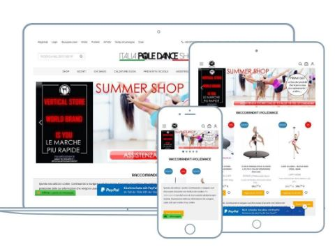 RESPONSIVE POLE DANCE STORE