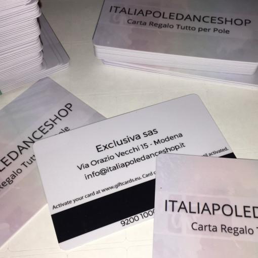 REGALA GIFT CARD POLE Carta prepagata in negozio