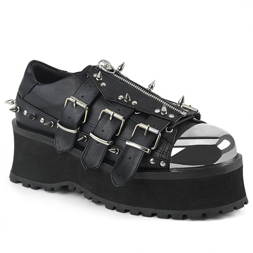 Demonia GRAVEDIGGER-03 Blk Vegan Leather
