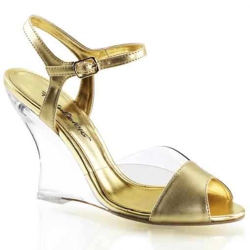Fabulicious LOVELY-442 Clr-Gold Metallic Pu/Clr