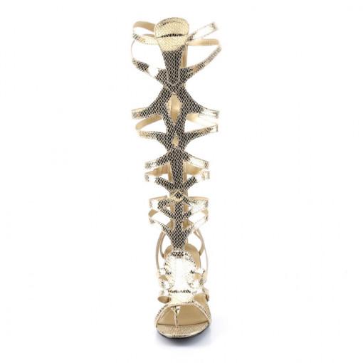 Funtasma GODDESS-12 Gold Met Snake Pu
