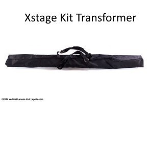 X-pole US KIT per Pedana X-STAGE Pali Stainless 45