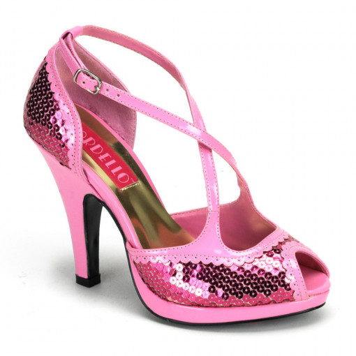 Bordello SIREN-07SQ B. Pink Sequins