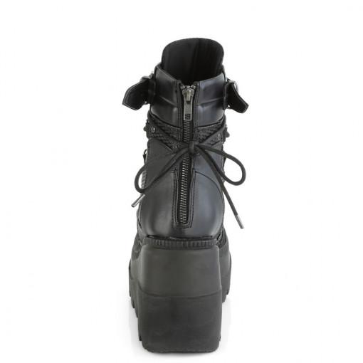 Demonia SHAKER-60 Blk Vegan Leather