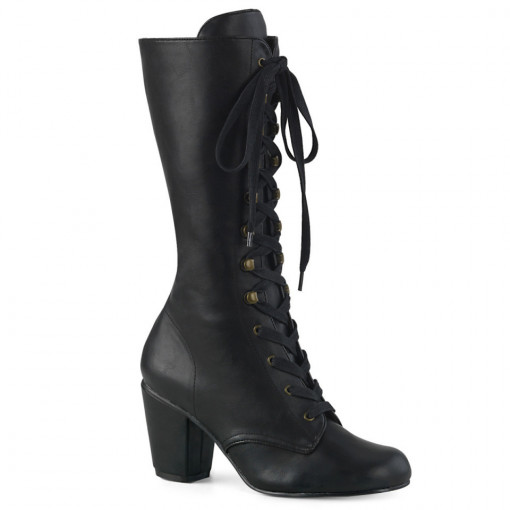 Demonia VIVIKA-205 Blk Vegan Leather