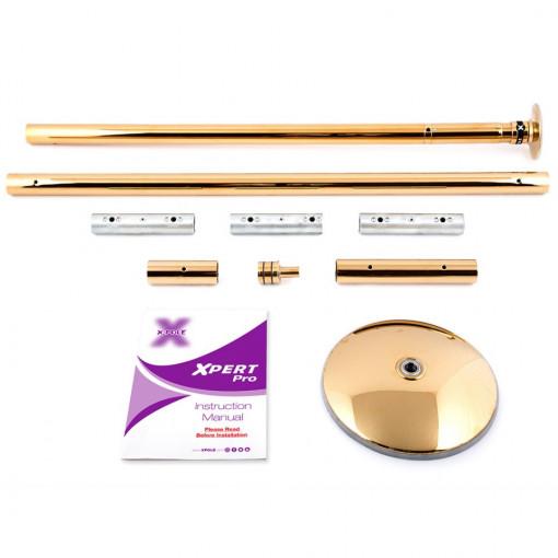 PALO KIT X-Pole t-GOLD X-clock titanio oro spinning e statico
