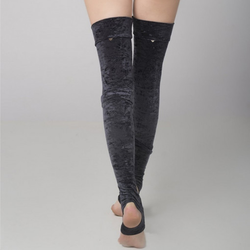 RAD VELVET LEG WARMERS Black In Negozio