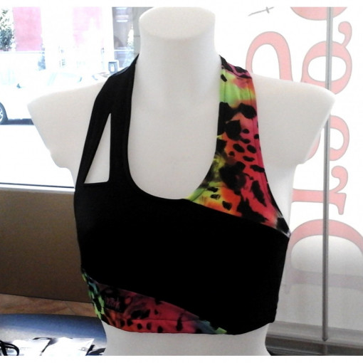WINK Rainbow Fitness Collection Top Assimetric