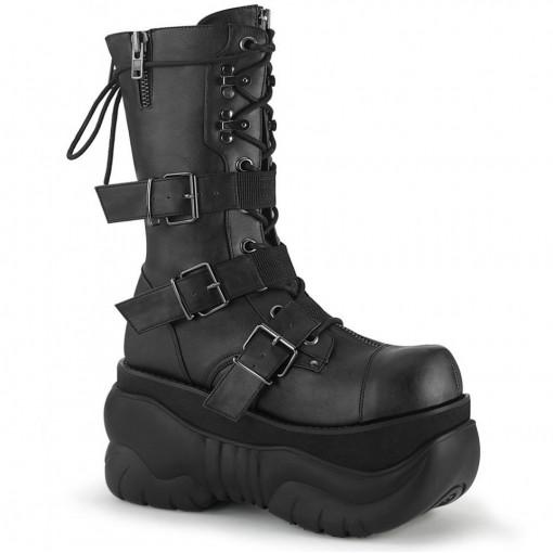 Demonia BOXER-230 Blk Vegan Leather