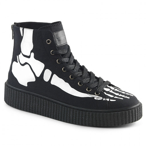 Demonia SNEEKER-252 Blk Canvas