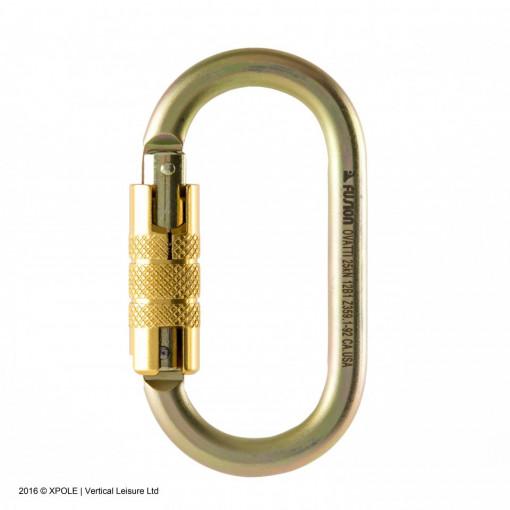 X-pole Carabiner Auto Lock (MBS 25kN) Gold