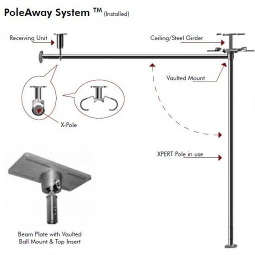 Xpole - PoleAway kit Scomparsa Pali