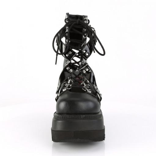 Demonia SHAKER-56 Blk Vegan Leather-Pat