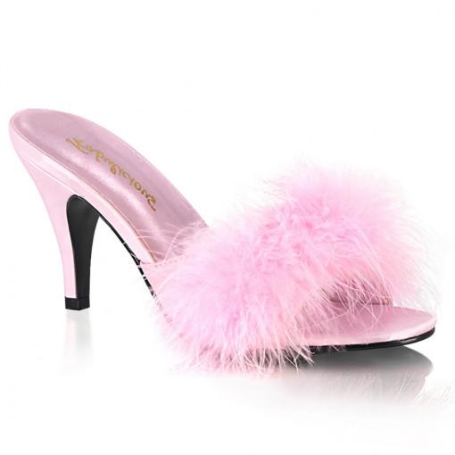 Fabulicious AMOUR-03 B. Pink Pu-Fur
