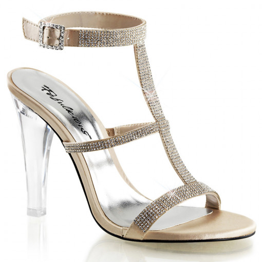 Fabulicious CLEARLY-418 Champagne Satin