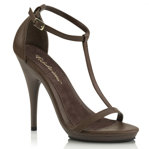 Fabulicious POISE-526 Brown Pu/Brown Matte