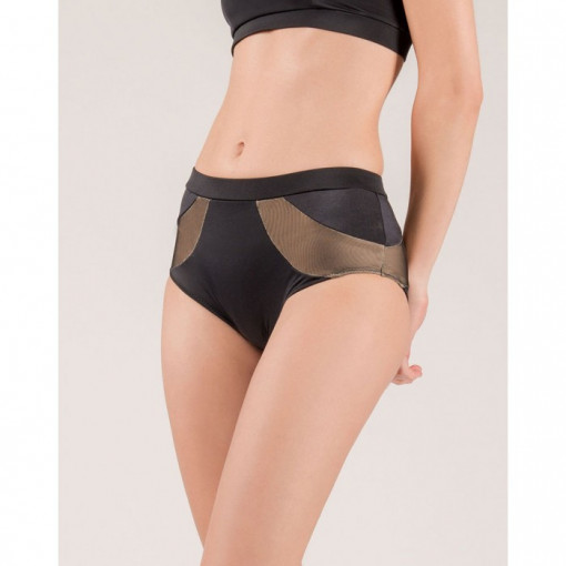 MADEMOISELLE SPIN - CRESCENT MOON BLACK SHORTS h24