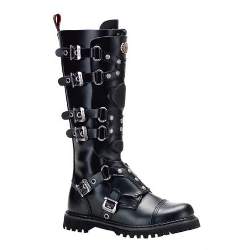 Demonia GRAVEL-22 Blk Leather