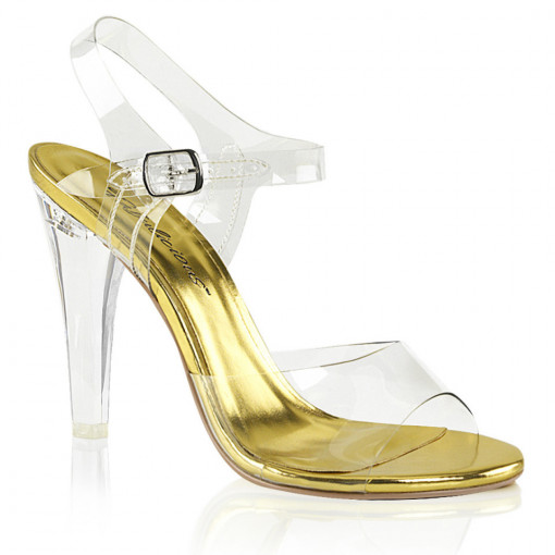 Fabulicious CLEARLY-408 Clr Lucite-Gold