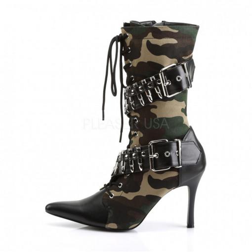 Funtasma MILITANT-128 Camouflage Fabric-Blk Pu