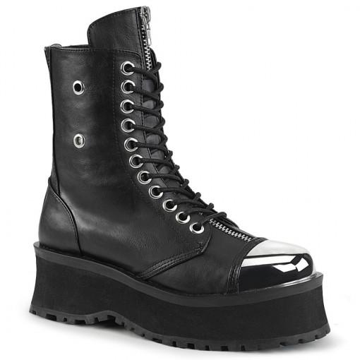 Demonia GRAVEDIGGER-10 Blk Vegan Leather