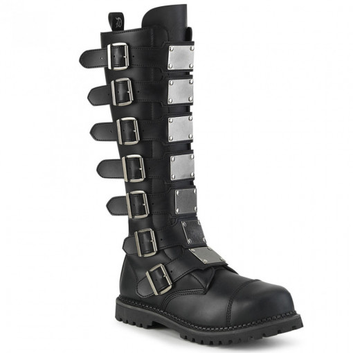 Demonia RIOT-21MP Blk Vegan Leather