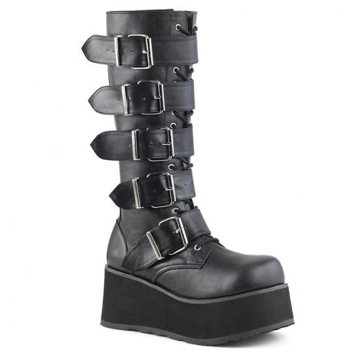 Demonia TRASHVILLE-518 Blk Vegan Leather