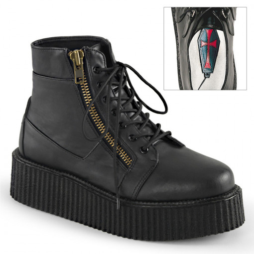 Demonia V-CREEPER-571 Blk Vegan Leather