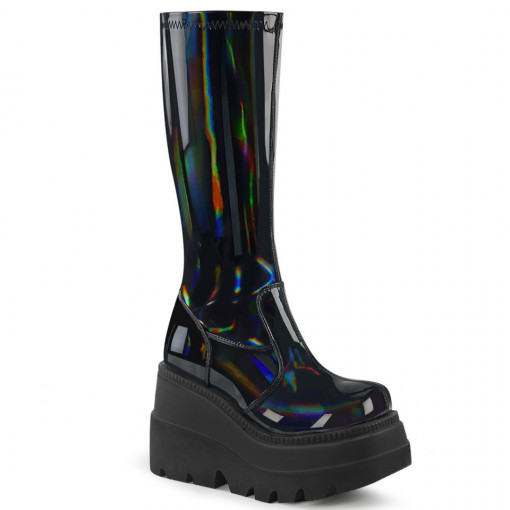Demonia SHAKER-65 Stretch Blk Pat Holo