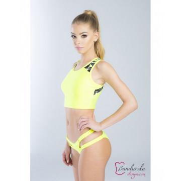 Bandurska Design - Lemon Cupcake Crop Short