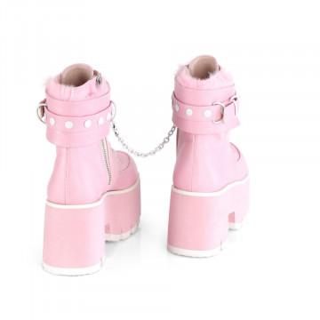 Demonia ASHES-57 B. Pink Vegan Leather