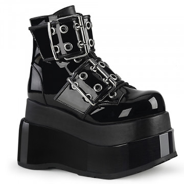 Demonia BEAR-104 Blk Pat-Vegan Leather