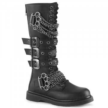Demonia BOLT-450 Blk Vegan Leather