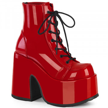 Demonia CAMEL-203 Red Patent