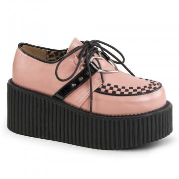 Demonia CREEPER-206 B. Pink Vegan Leather