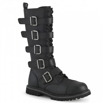 Demonia RIOT-18BK Blk Vegan Leather