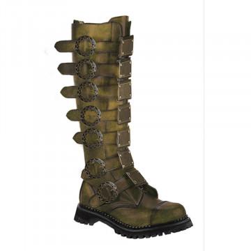 Demonia STEAM-30 Bronze Rub-Off Leather
