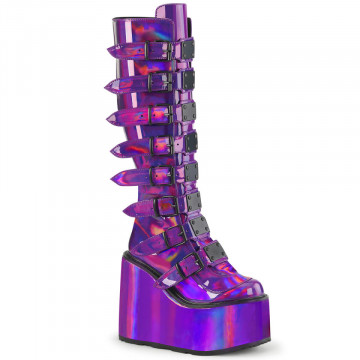 Demonia SWING-815 Purple Holographic Pat