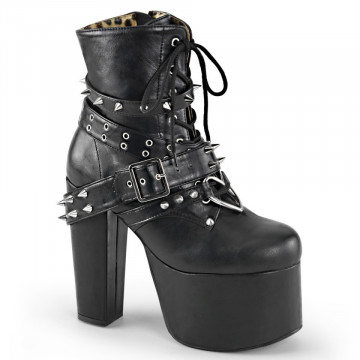 Demonia TORMENT-700 Blk Vegan Leather