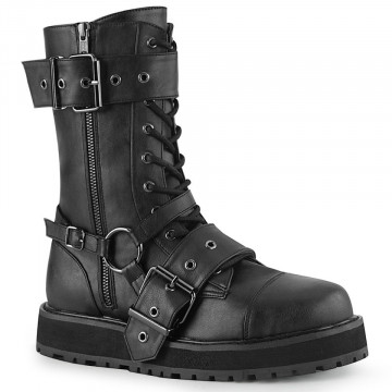 Demonia VALOR-220 Blk Vegan Leather