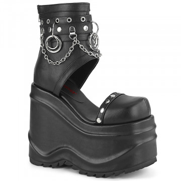 Demonia WAVE-22 Blk Vegan Leather