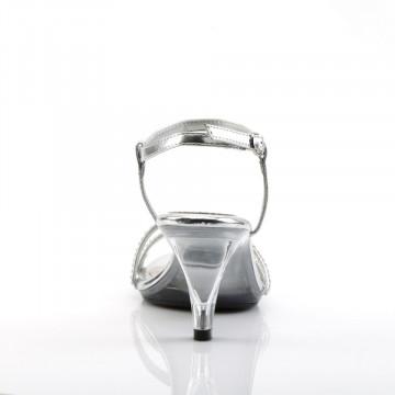 Fabulicious BELLE-316 Slv Metallic Pu/Clr