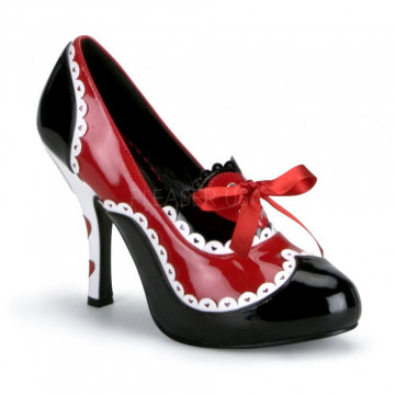 Funtasma QUEEN-03 Blk-Red-Wht Pat