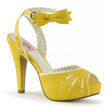 Pin Up Couture BETTIE-01 Yellow Faux Leather