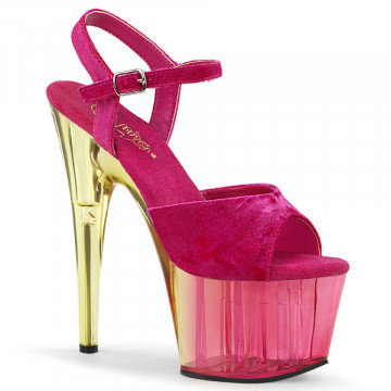 Pleaser ADORE-709MCT Pink Crushed Velvet/Dual Tinted