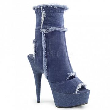 Pleaser DELIGHT-1030 Denim Blue Str Fabric