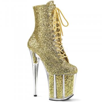 Pleaser FLAMINGO-1020G Gold Glitter/Gold Glitter
