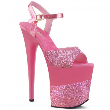 Pleaser FLAMINGO-809-2G Pink Glitter/Pink Glitter