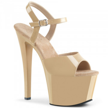 Pleaser SKY-309 Cream Pat/Cream